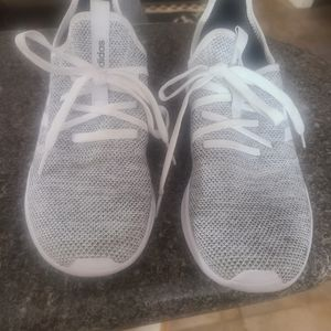 Adidas Black and White Cloud Foam